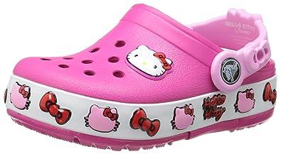 496db93ec1345 Crocs 16297 Hello Kitty Light-Up Clog (Infant Toddler Little Kid)
