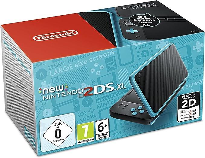 Nintendo 3Ds - Consola New Nintendo 2Ds XL, Color Negro y Turquesa: Amazon.es: Videojuegos
