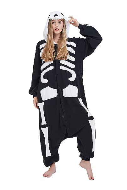 Fandecie Animal Costume Animal Traje Pijamas Pijamas Jumpsuit Kigurumi Esqueleto Mujer Hombre Cosplay Adulto para Carnaval Animal Halloween: Amazon.es: Ropa ...