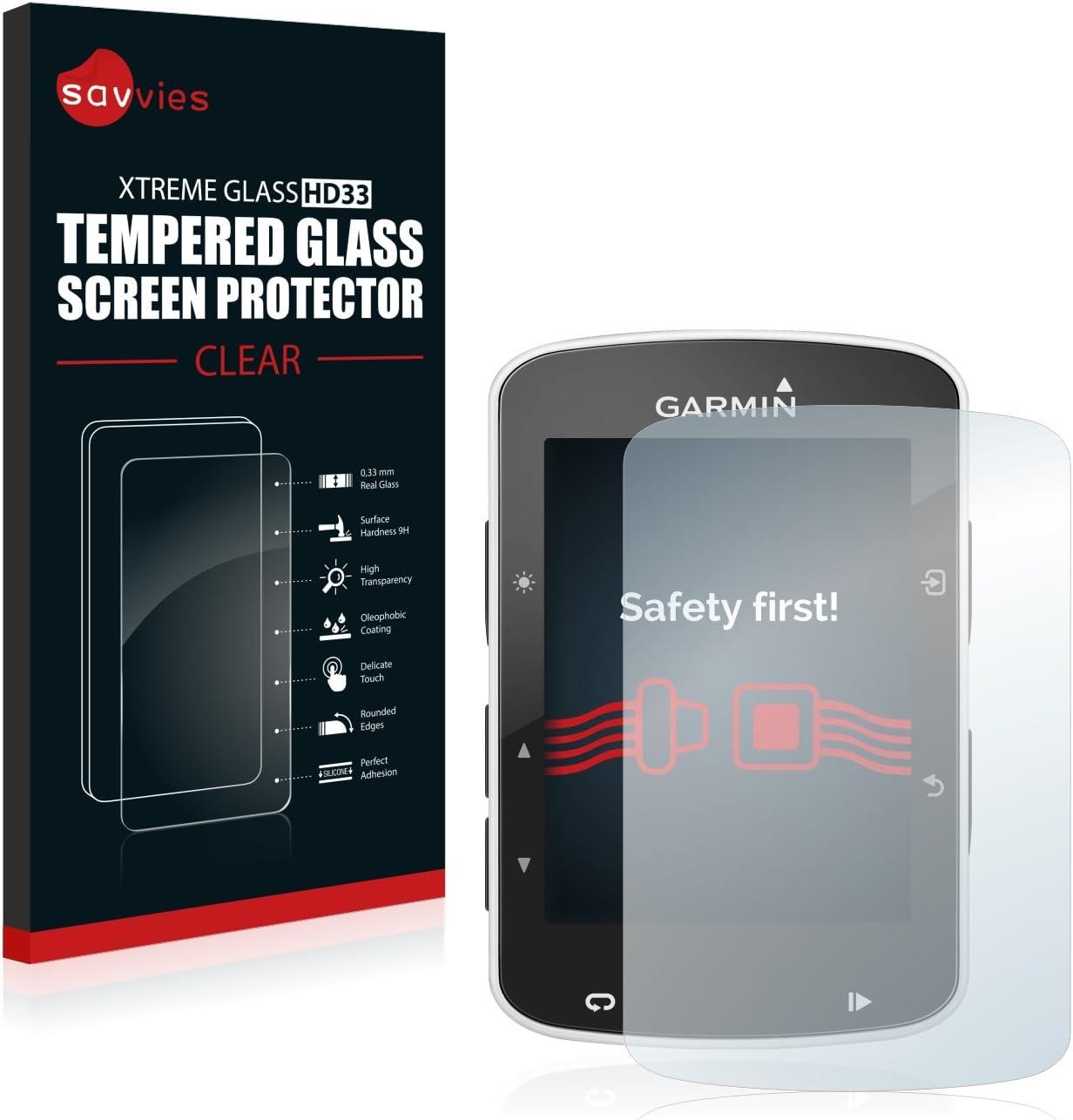savvies Cristal Templado Compatible con Garmin Edge 520/820 Protector Pantalla Vidrio Proteccion 9H Pelicula Anti-Huellas: Amazon.es: Electrónica