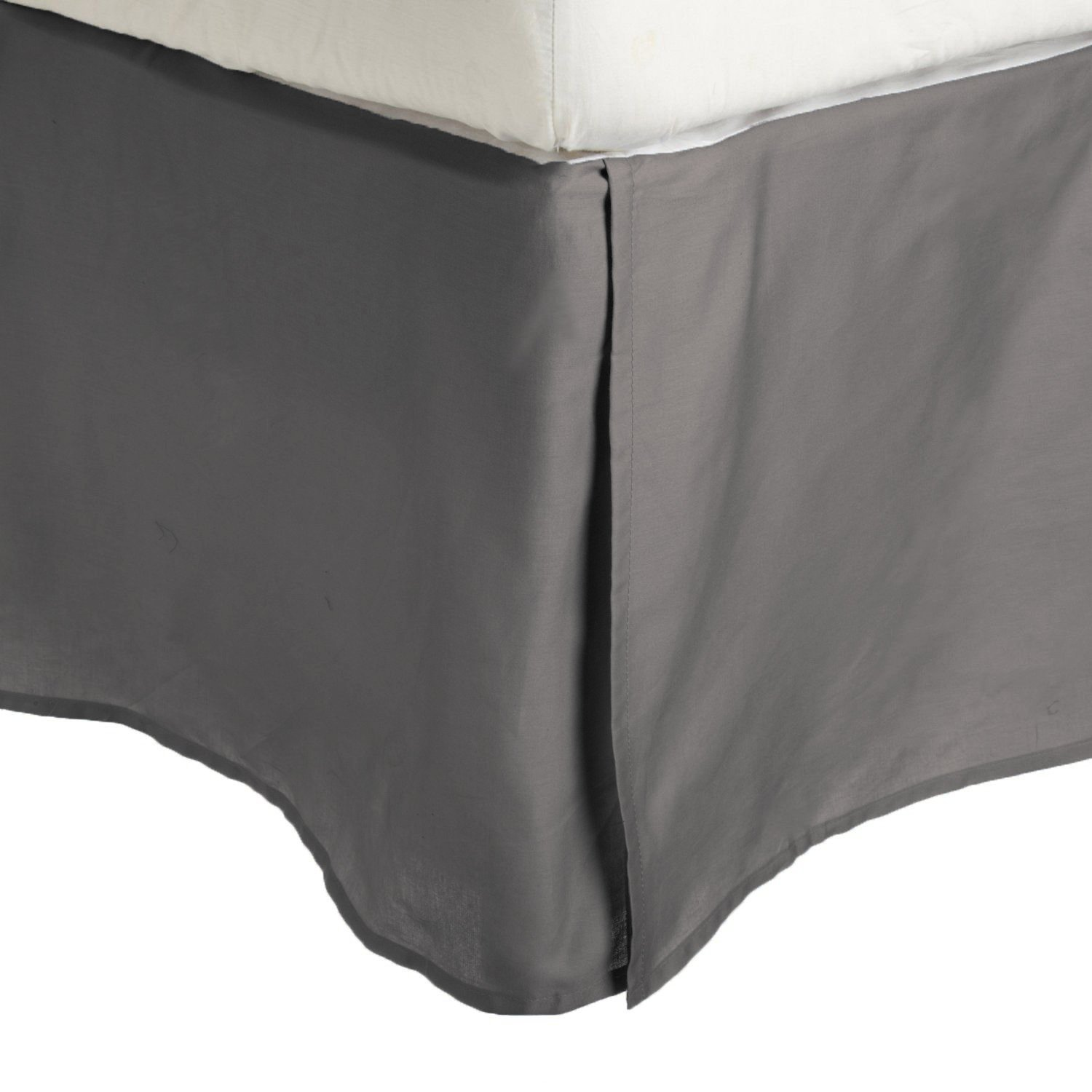 100% Brushed Microfiber Bed Skirt, Twin XL, Aqua, Wrinkle Resistant, Pleated Corners Luxor Linens MF3000XLBS 2LAQ