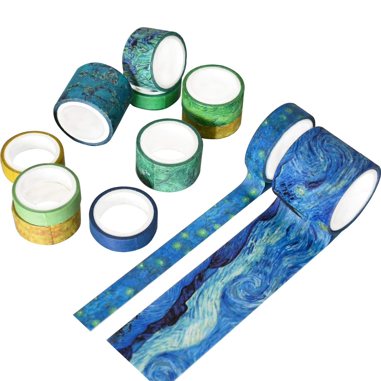 washi tape blue planner accessories