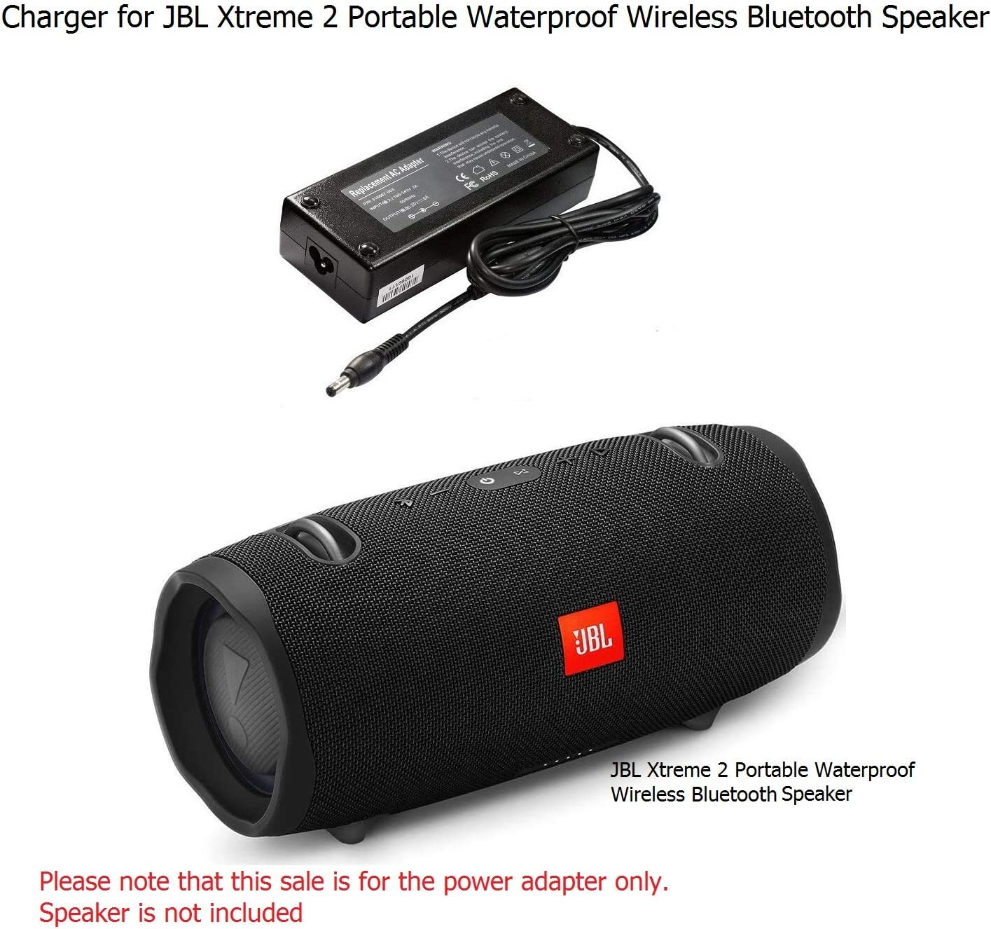 Charger for JBL Xtreme 2 Portable Wireless Bluetooth Speaker
