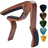 Guitar Capo (Free 5 Picks)NIAFEYA 6-String Acoustic and Electric Guitars Trigger Capo Quick Change Guitar Capo for Music Enthusiast,Rosewood Color