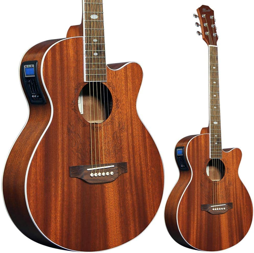 Lindo Feeling - Guitarra electroacústica con sintonizador de ...