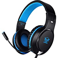 Karvipark H-10 Gaming Headset for Xbox One/PS4/PS5/PC/Nintendo Switch Noise Cancelling,Bass Surround Sound,Over Ear,3…