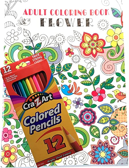 Amazon Com Custom Coloring Book And Colored Pencils Bundle 2 Pieces