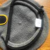 aa8b676ad78a1 Amazon.com  Gray Unlined Beret with Leather Sweatband and JROTC ...