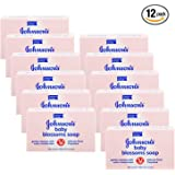 Johnson & Johnson Baby Lotion Bar Soap Blossoms 100 G / 3.5 Oz (Pack of 12)