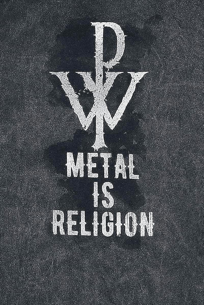 5eec3504 Powerwolf Metal is Religion - Crest T-Shirt Black: Amazon.co.uk: Clothing