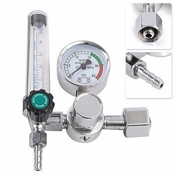 Lovinn CO2 Mig Tig - Medidor de flujo para botella de gas para soldadura Mig 0-25MPa Argon: Amazon.es: Hogar