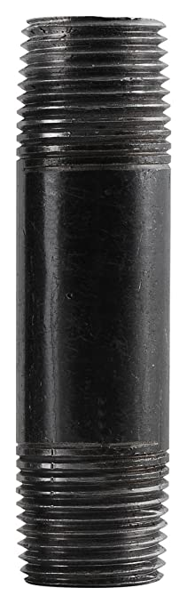 ldr 302 12x12 galvanized pipe nipple black 12inch x 12