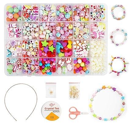 De La Alphabet BraceletsCollierArt Set550pcs Fabrication Craftamp; Pour Kit Bricolage Ucradle Perles Poney Enfants NPwX8nOk0