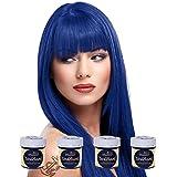 4 x La Riche Directions Semi-Permanent Hair Color 88ml Tubs - ATLANTIC BLUE