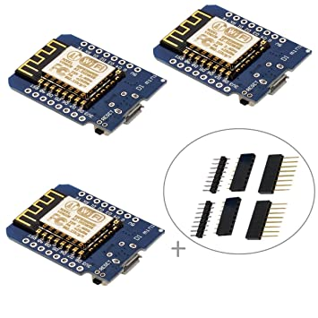 IZOKEE D1 Mini NodeMcu Lua 4M Bytes WLAN WiFi Internet Development Board  Base on ESP8266 ESP-12F for Arduino, 100% Compatible with WeMos D1 Mini  (Pack