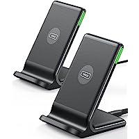INIU Cargador Inalámbrico Rápido[2Pack], 15W Qi Wireless Charger Estación Compatible con iPhone 13 12 11 Pro MAX XR XS X…