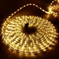 50M Rope Lights String Festoon Lights 1200 LED Warm White Christmas Lights Jingle Jollys