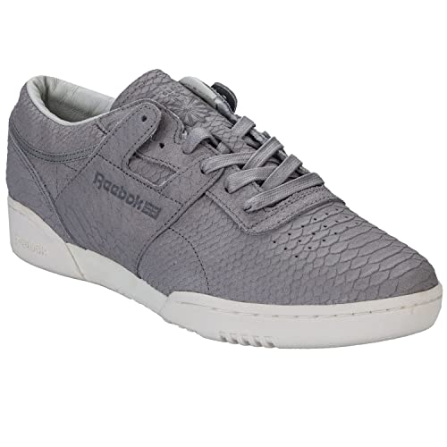 Reebok Mens Mens Workout Lo Clean Lux Trainers in Grey - UK 3