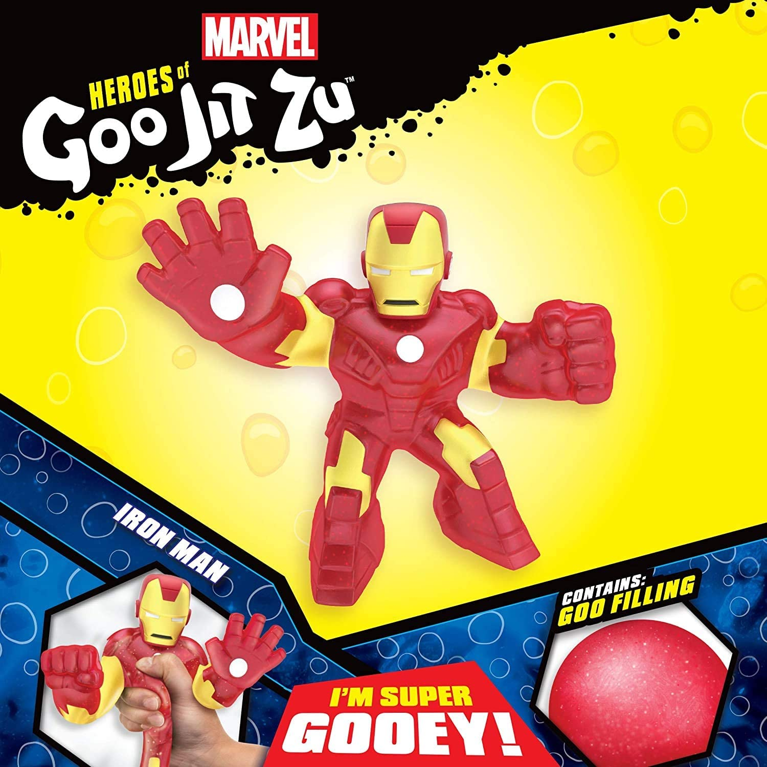Moose Marvel Heroes of Goo Jit Zu Iron Man Stretchy Gooey Goo Action Figure