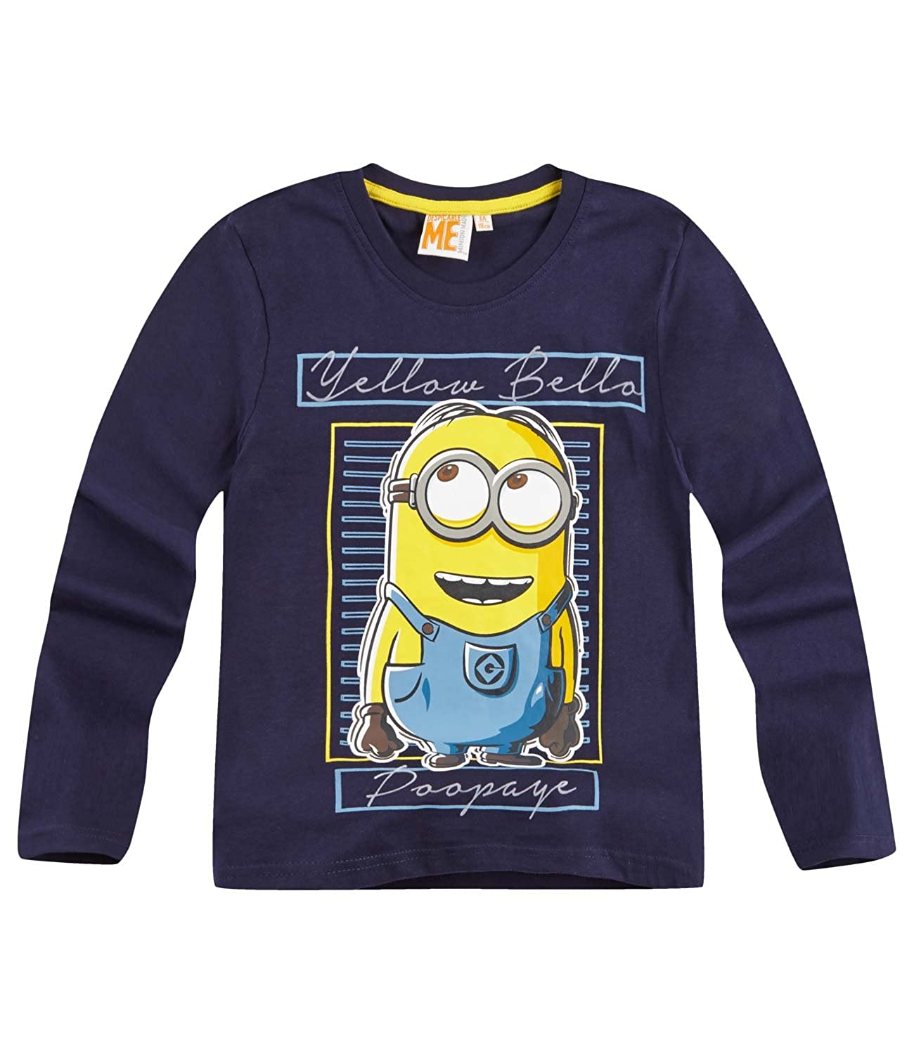 Official Minions Movie Despicable Me Boys Long Sleeve Top T-Shirt 100 Cotton