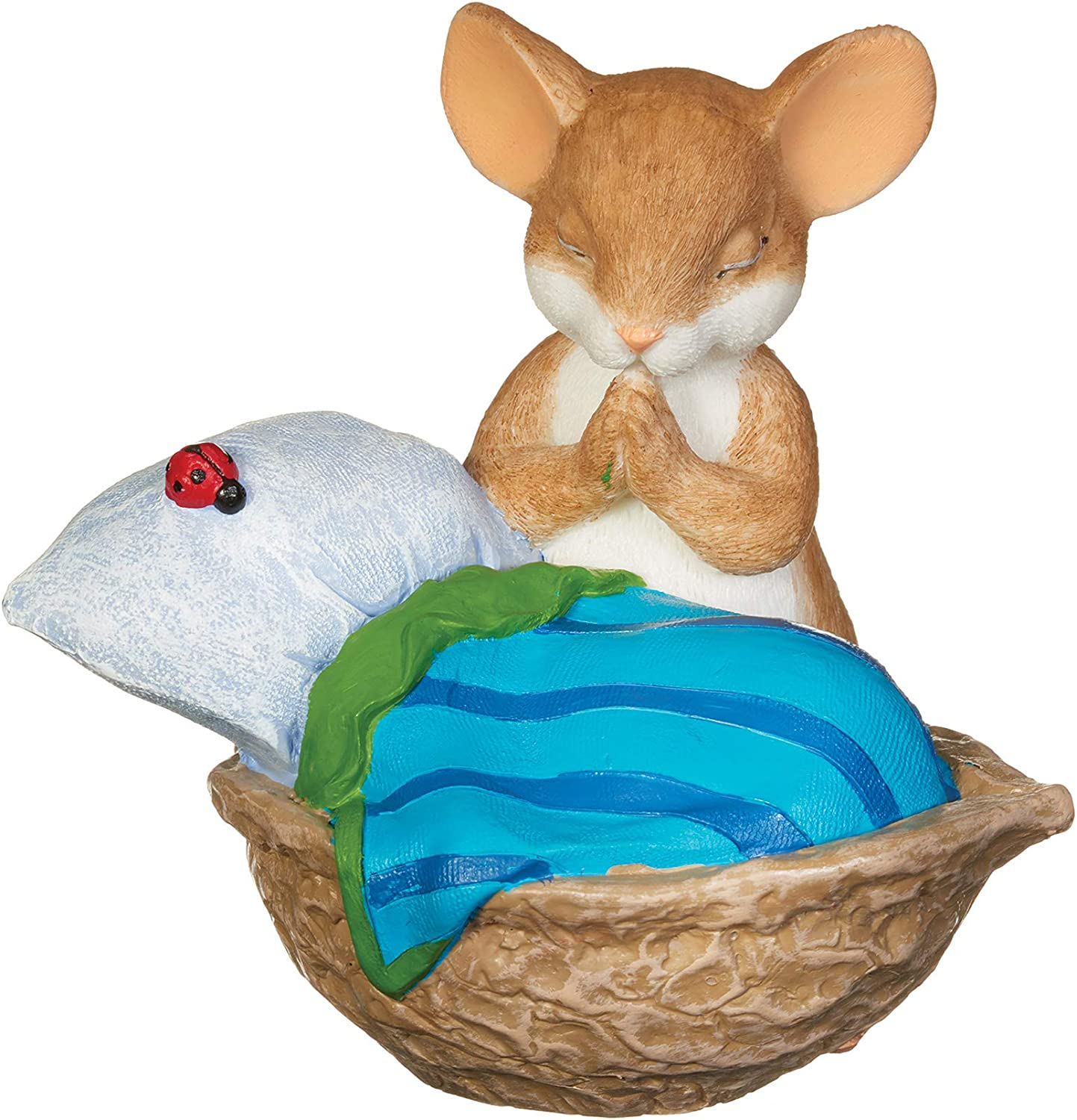 Roman - Charming Tails Collection, Praying Mouse Figure, 3