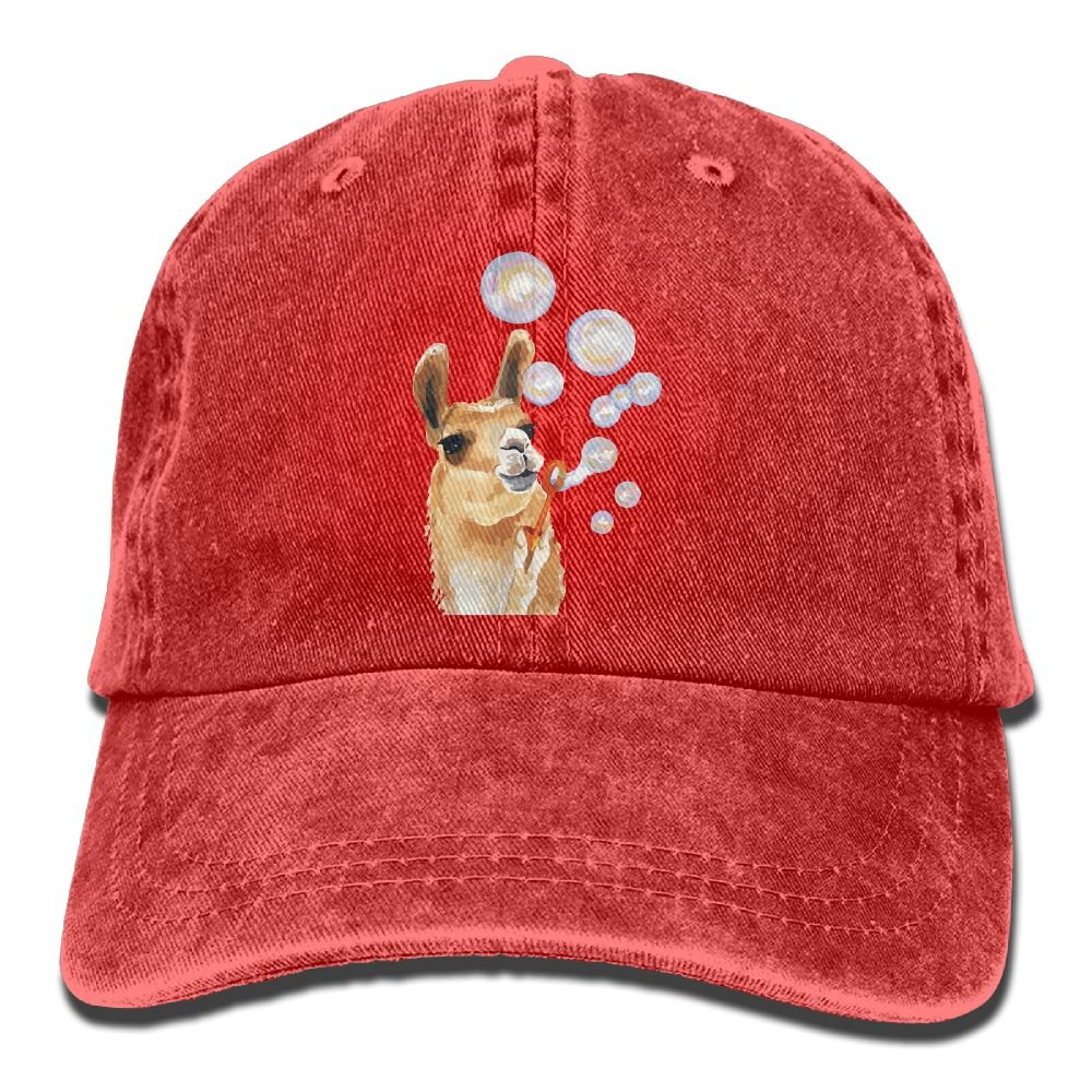 Men Women Llama Painting Adjustable Jeans Baseball Cap Outdoor Sports Hat