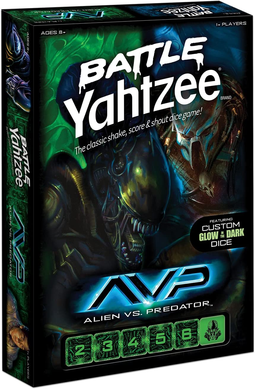 Battle Yahtzee Aliens vs. Predator: Amazon.es: Juguetes y juegos