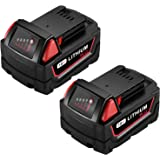 Powerextra 6.0AH Lithium Battery Replace for Milwaukee M18 Battery, Compatible with Milwaukee Battery 48-11-1850/48-11-1852/4