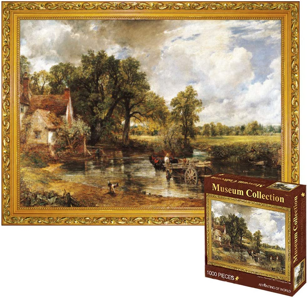 Puzzle Gifts 1000PCS Famous Painting Jigsaw Puzzle WHITE BRIDGE 1000pcs The Hay Wain Jigsaw for Kids Adults