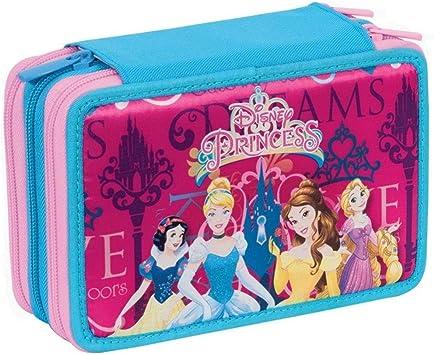 Trade Shop traesio Estuche Completo con 3 Cremalleras Princesas Disney con Accesorios de Niñas Escolar: Amazon.es: Electrónica