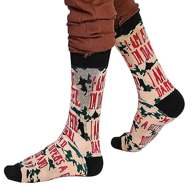 JDYW Calcetines Hombres Mujer Calcetines Divertidos Calcetines de algodón de impresión de lujo Calcetines Cumpleaños Regalos