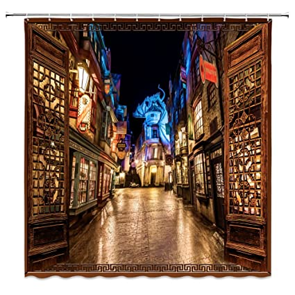 Amazon Com Feierman Magic World Harry Potter Shower Curtain Decor