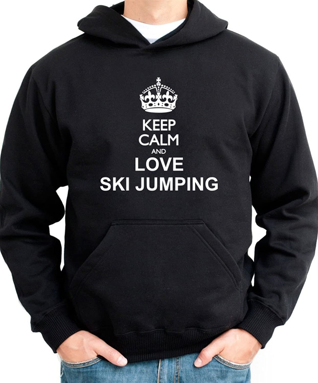 Keep calm and love Ski Jumping Hoodie