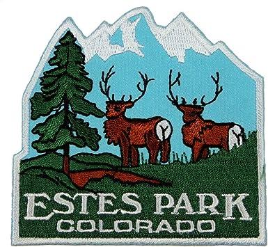 Amazon Com Estes Park Colorado Patch Rocky Mountain Travel Embroidered Iron On Applique