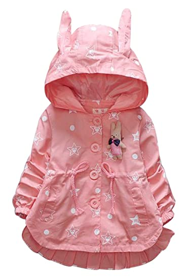 0e6a229a5 Amazon.com  UNIQUEONE Baby Girls Cartoon Print Hooded Coat Outerwear ...