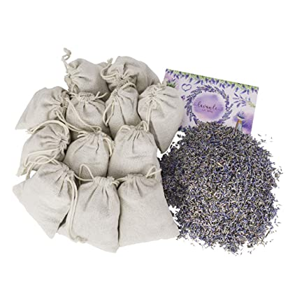 0e6dbeb208 12 Lavender Flower Sachets Craft Bag Kit of Made-by-You Handmade Sachets  with