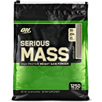 Optimum Nutrition Serious Mass Gainer Protein Powder, Cookies & Cream, 12 pound