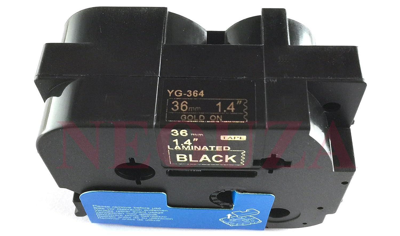 24 mm TZe-Nastro adesivo etichette 36 mm tutte le dimensioni TZe-364 36mm nero//oro colore: nero 12 mm Compatibile per Brother P-touch Tz 9 mm 6 mm 18 mm