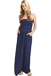 1e2fcf62de0 Vanilla Bay Women s Strapless Full Length Maxi Dress with Pockets