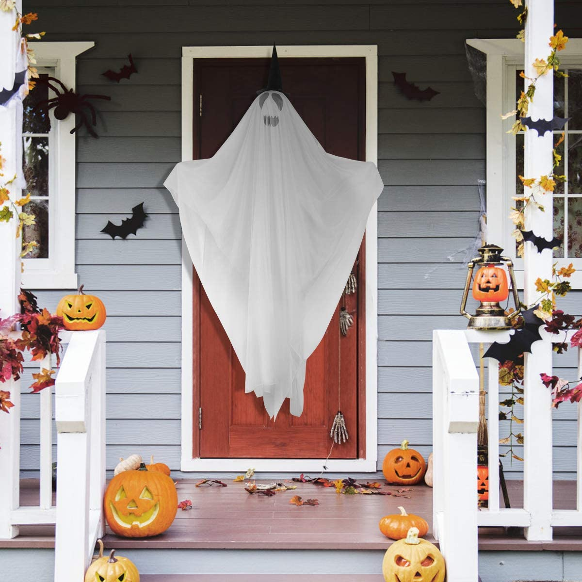 Light Up Halloween Ghost Decorations for Halloween Yard Lawn Outdoor Decorations 63 Inch (Battery Included)