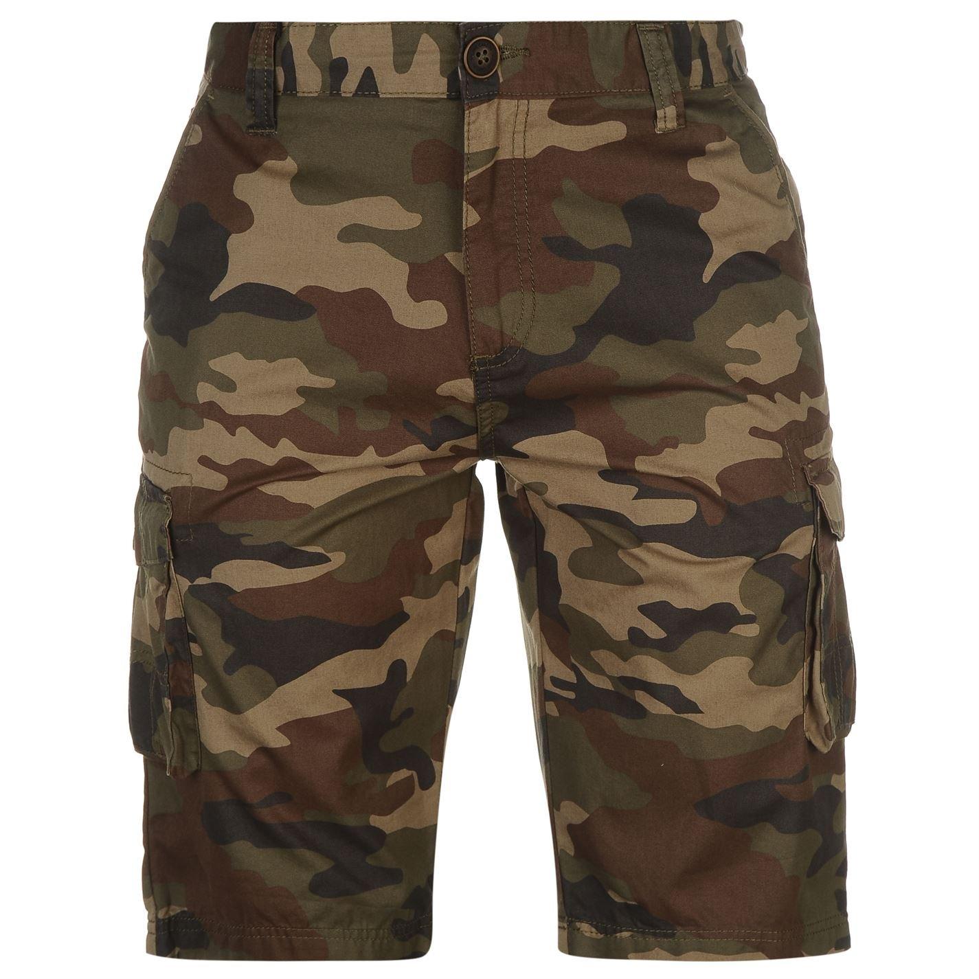 TALLA L. Pierre Cardin Hombres Pantalones Cortos Cargo Impresos 100% Algodón Verano Pequeño - XL Tallas Disponibles