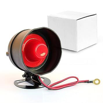 Taikuwu 105dB 12 V Mini con cable Standalone fuerte cuerno ...