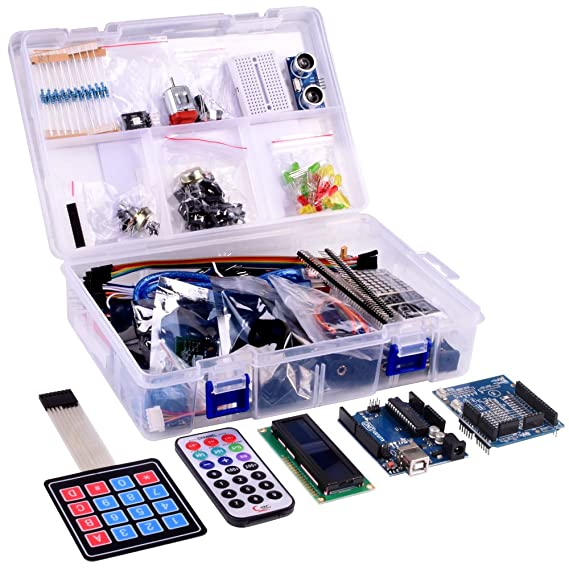 Kuman New Arduino Components with UNO R3 LCD servo Ultimate Starter RFID Learning Kit for Arduino UNO Nano Learners Beginner, Complete 48 Set Kits K25: ...