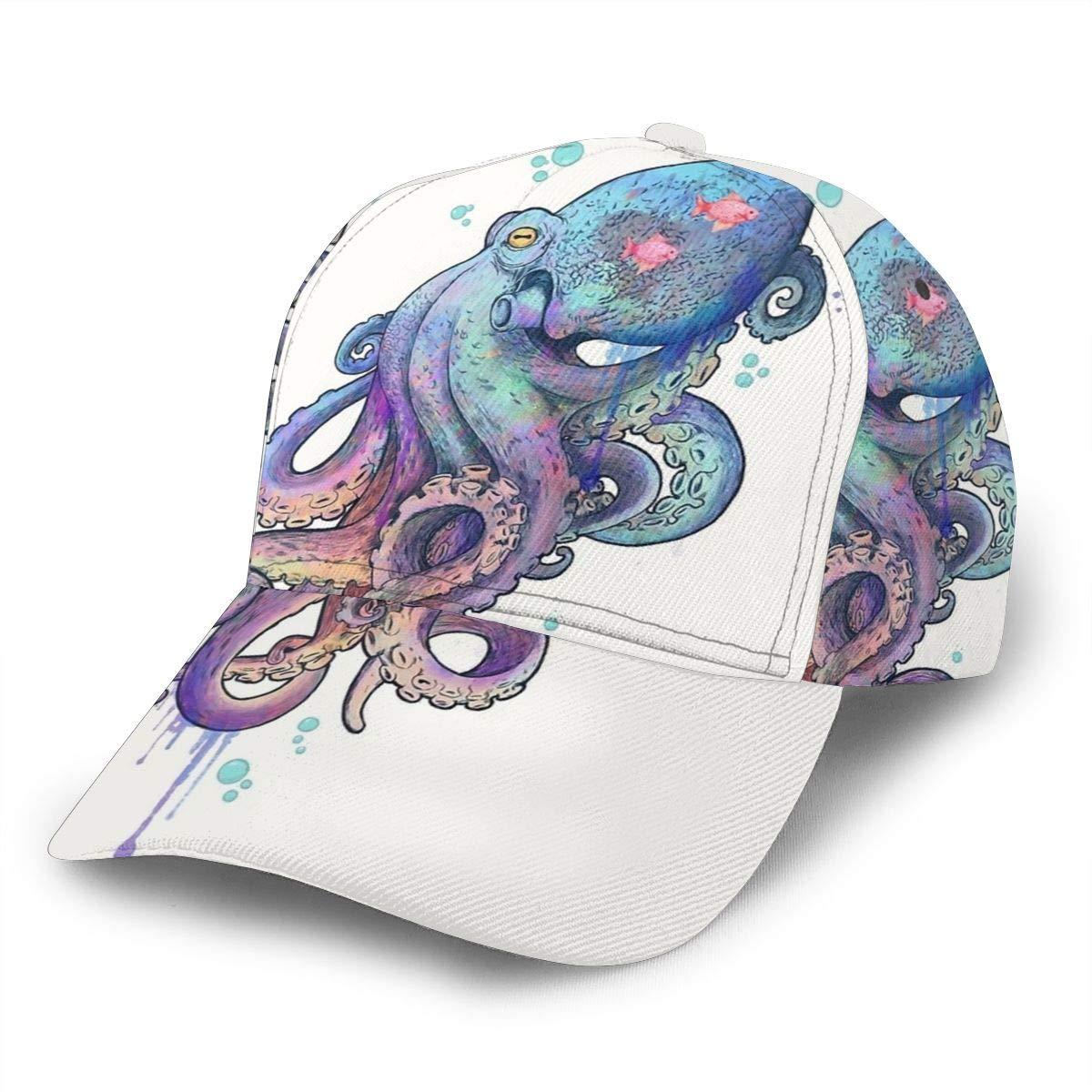 Octopus Gorra de béisbol Ajustable para Mujer y Hombre, Gorra de ...