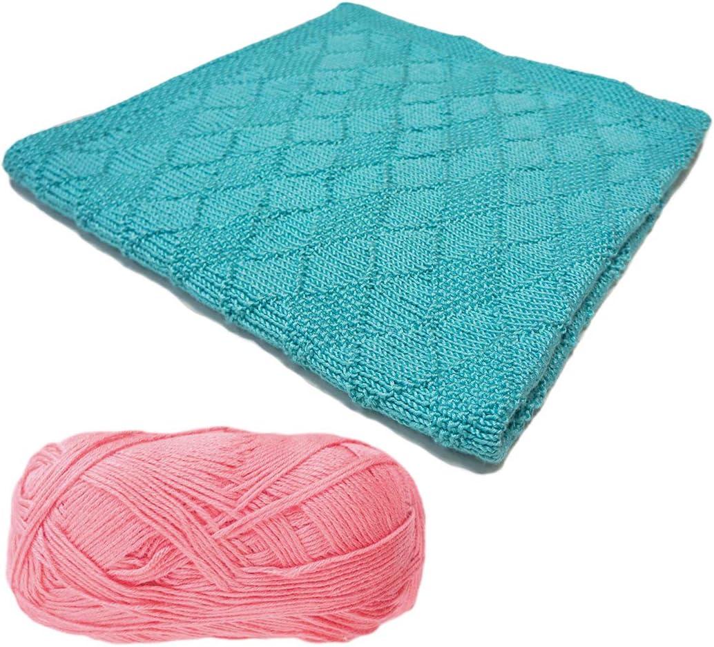 310-Steel Blue Bella Diamond Baby Blanket Knitting Kit