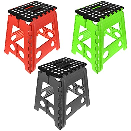 Astonishing One Step Folding Plastic Stool Portable Fold Up Footstool For Kitchen Bathroom Toilet Caravan For Children Kids Adult Collapsible Non Slip Alphanode Cool Chair Designs And Ideas Alphanodeonline