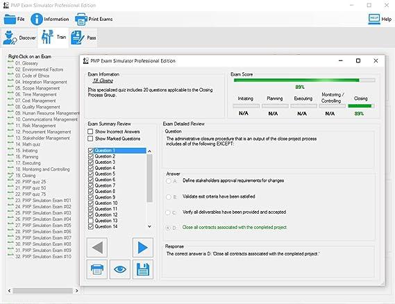 Amazon com: PMP Exam Simulator Professional Edition 2016 SP1