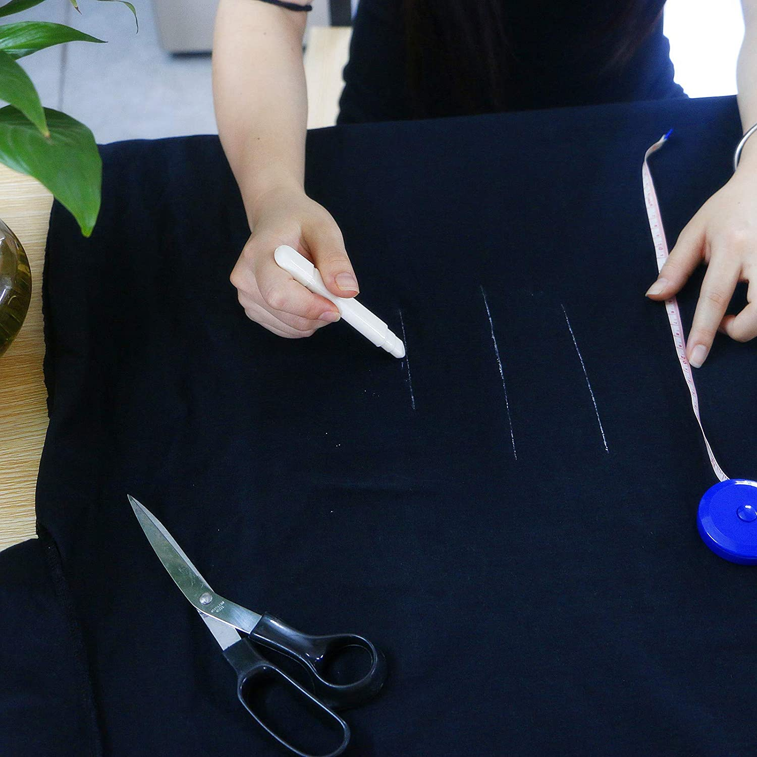 Sewing Notions /& Accessories Crafting Marking with 2 Chalk Refill Tailors Chalk Rectangle Tailors Wheel Fabric Marker Chalk Pencils Chalks for Tailoring White