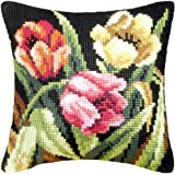 Orchidea Humming Bird Pillow Cover Needlepoint Kit