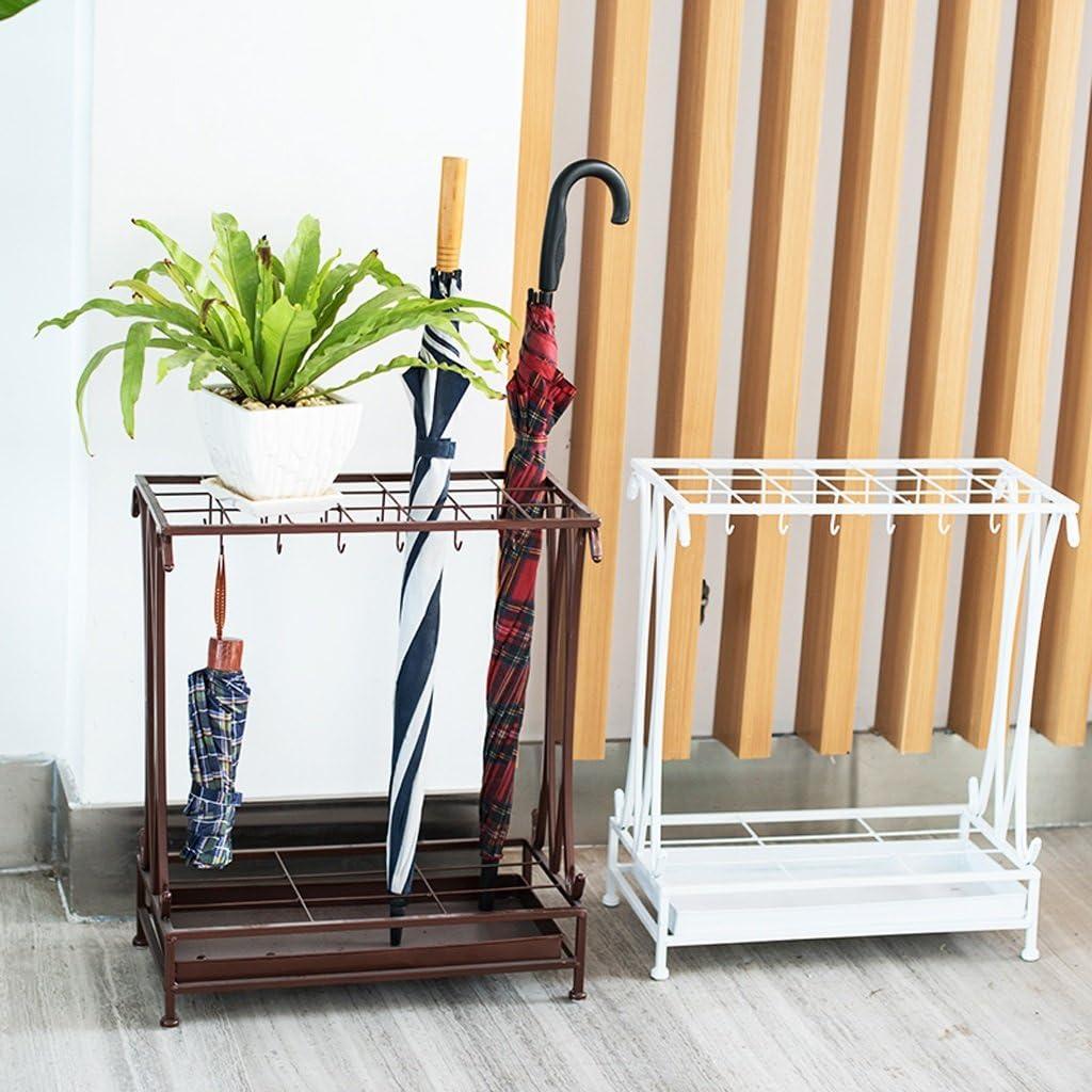 domestici portaombrelli rastrelliere atterraggio hotel Lobby ombrello mensola scaffale ferro ombrello secchio 50*24*70/cm Nero